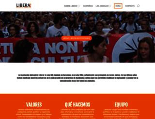 liberaong.org screenshot