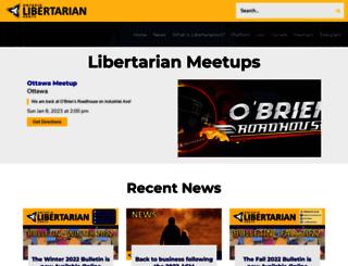 libertarian.on.ca screenshot