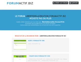 libertedelacreation.forumactif.biz screenshot