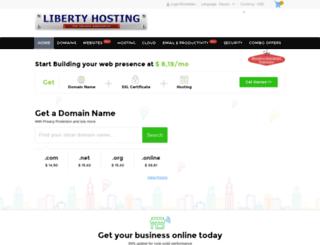 liberty-hosting.net screenshot