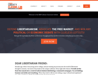 libertyclassroom.com screenshot