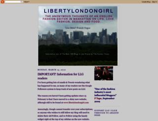 libertylondongirl.blogspot.com screenshot