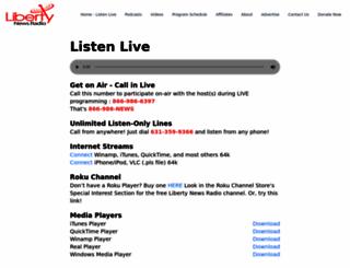 libertynewsradio.com screenshot