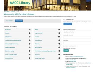 libguides.aacc.edu screenshot