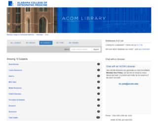 libguides.acomedu.org screenshot