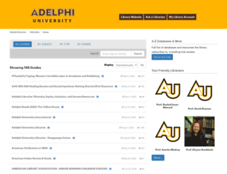 libguides.adelphi.edu screenshot