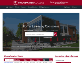 libguides.bridgewater.edu screenshot