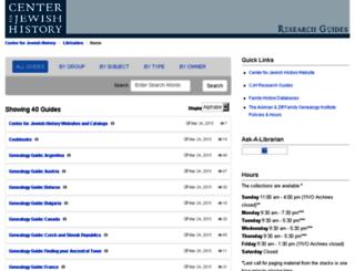 libguides.cjh.org screenshot