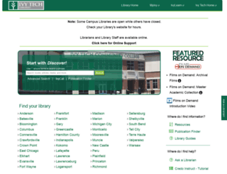 libguides.ivytech.edu screenshot