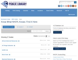 libguides.nhclibrary.org screenshot