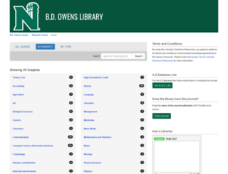 libguides.nwmissouri.edu screenshot