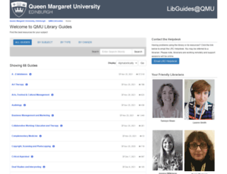 libguides.qmu.ac.uk screenshot