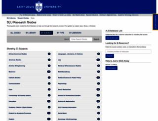 libguides.slu.edu screenshot