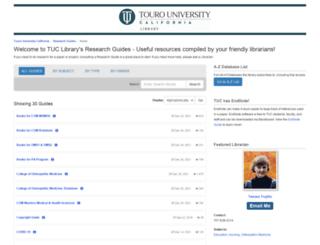 libguides.tu.edu screenshot