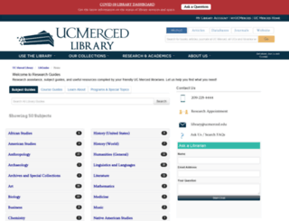libguides.ucmercedlibrary.info screenshot