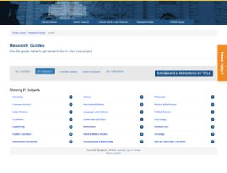 libguides.usna.edu screenshot