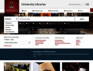 libinfo.uark.edu screenshot