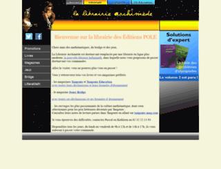 librairie-archimede.com screenshot