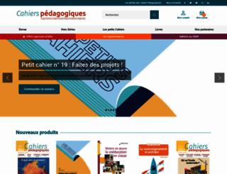 librairie.cahiers-pedagogiques.com screenshot