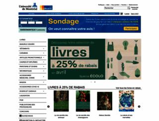 librairie.umontreal.ca screenshot