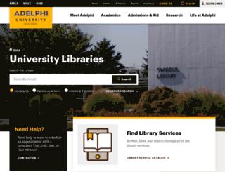 libraries.adelphi.edu screenshot
