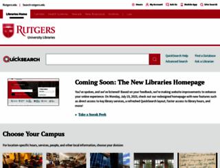 libraries.rutgers.edu screenshot
