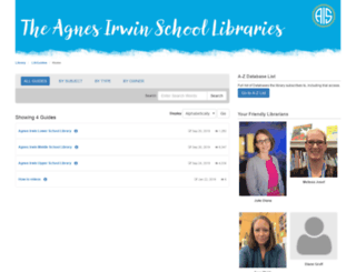 library.agnesirwin.org screenshot