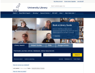 library.anglia.ac.uk screenshot