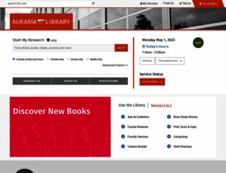library.auraria.edu screenshot