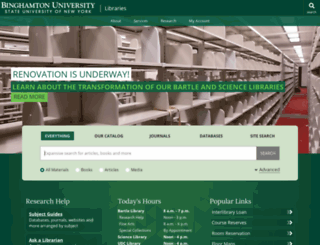 library.binghamton.edu screenshot