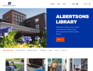 library.boisestate.edu screenshot