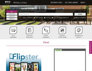 library.byui.edu screenshot