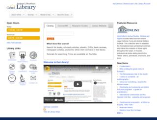 library.canisius.edu screenshot