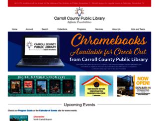 library.carr.org screenshot