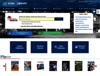 library.ccbcmd.edu screenshot