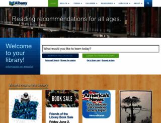 library.cityofalbany.net screenshot