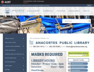 library.cityofanacortes.org screenshot