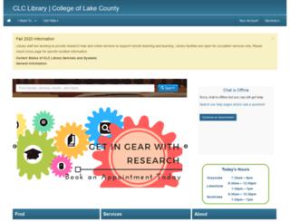 library.clcillinois.edu screenshot