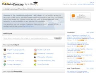library.collaborizeclassroom.com screenshot
