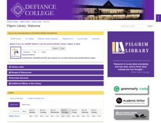 library.defiance.edu screenshot