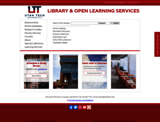 library.dixie.edu screenshot