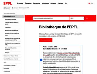 library.epfl.ch screenshot