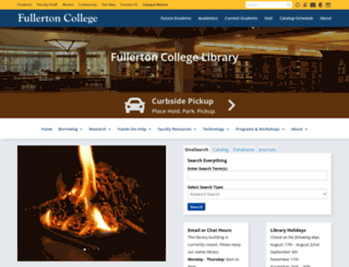 library.fullcoll.edu screenshot