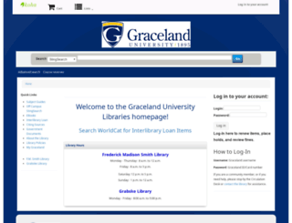 library.graceland.edu screenshot