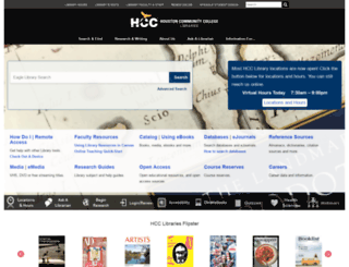 library.hccs.edu screenshot