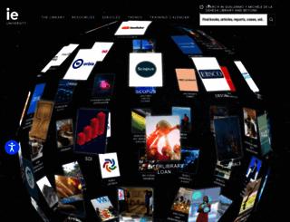 library.ie.edu screenshot