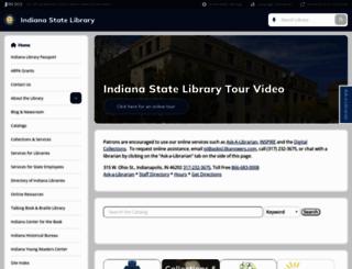 library.in.gov screenshot