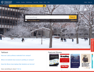 library.ithaca.edu screenshot