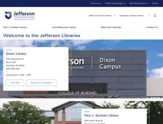library.jefferson.edu screenshot