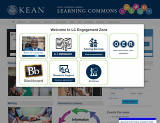 library.kean.edu screenshot